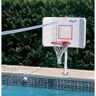 Spike and Splash Deck Mount Water Basketball / Volleyball Combo by Pool Shot by
