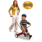 "Radio Flyer Classic Red Tricycle with Push Handle (10"")"