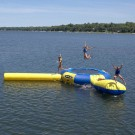 Aqua Jump Eclipse 150 Water Trampoline with Launch and Log by
