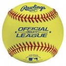 Official League Baseballs (Yellow) from Rawlings - 1 Dozen