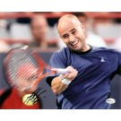 "Andre Agassi Autographed ""Swinging"" 8"" x 10"" Photograph (Unframed)"