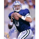 """Troy Aikman """"Holding Ball"""" Autographed Dallas Cowboys 8"""" x 10"""" Photograph (Unframed)"""