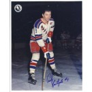 "Andy Bathgate Autographed New York Rangers 8"" x 10"" Photograph Hall of Famer (Unframed)"
