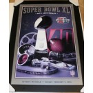 """Jerome Bettis Autographed Super Bowl XL 28"""" x 40"""" Poster Custom Framed Pittsburgh Steelers"""