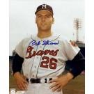 "Bob Shaw Autographed Milwaukee Braves 8"" x 10"" Photograph (Unframed)"