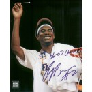 "Corey Brewer Autographed ""Net"" 8"" x 10"" Photograph with ""06-07 Champs"" Inscription (Unframed)"