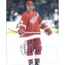 """Chris Chelios Autographed Detroit Red Wings 8"""" x 10"""" Photograph Future Hall of Famer (Unframed)"""