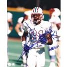 "Chris Sanders Autographed Houston Oilers, Titans 8"" x 10"" Photograph (Unframed)"