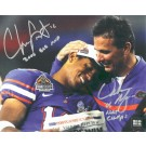 """Chris Leak and Urban Meyer Autographed """"National Championship"""" 8"""" x 10"""" Photograph with """"2006 BCS MVP"""" and """"06 NAT CHAMPS"""" Inscriptions (Unframed)"""