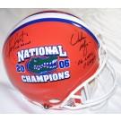 Chris Leak and Urban Meyer Autographed Florida Gators National Championship Logo Full Size... by