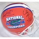Chris Leak and Urban Meyer Autographed Florida Gators National Championship Logo Replica... by