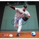 """Curt Schilling Autographed Boston Red Sox """"Throwing Ball"""" 8"""" x 10"""" Action Photograph (Unframed)"""