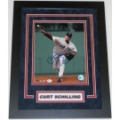 """Curt Schilling Autographed Boston Red Sox """" Throwing Framed"""" 8"""" x 10"""" Custom Framed Photograph"""