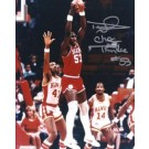 "Darryl Dawkins Autographed Philadelphia 76ers 8"" x 10"" Photograph w/ ""Chocolate Thunder"" inscription (Unframed)"