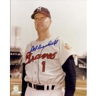 """Del Crandall Autographed Milwaukee Braves 8"""" x 10"""" Photograph (Unframed)"""