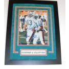 "Dan Marino and Mark Clayton DUAL Autographed Miami Dolphins 8"" x 10"" Custom Framed Photograph"