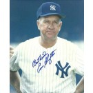 "Enos Slaughter Autographed New York Yankees 8"" x 10"" Photograph with ""Best Wishes"" Inscription Deceased (Unframed)"