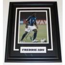 """Freddie Adu Autographed 8"""" x 10"""" Custom Framed Photograph"""