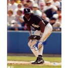 """Frank """"The Big Hurt"""" Thomas """"Black Jersey"""" Autographed Chicago White Sox 8"""" x 10"""" Photograph (Unframed)"""