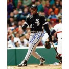 "Frank ""The Big Hurt"" Thomas ""Action"" Autographed Chicago White Sox 8"" x 10"" Photograph (Unframed)"