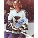 "Garry Unger Autographed St. Louis Blues 8"" x 10"" Photograph (Unframed) by"
