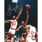 "George Gervin Autographed San Antonio Spurs 8"" x 10"" Photograph with ""ICE"" Inscription (Unframed)"
