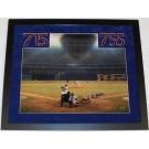 "Hank Aaron Autographed Atlanta Braves 16"" x 20"" Photograph Home Run #715 CUSTOM... by"