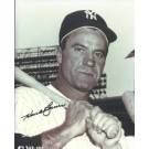 "Hank Bauer Autographed New York Yankees ""With Bat"" 8"" x 10"" Photograph (Deceased) (Unframed)"