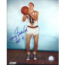 "Harry Gallatin Autographed New York Knicks 8"" x 10"" Photograph with Hall of Fame Inscription (Unframed)"