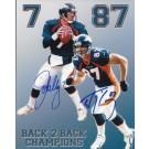 "John Elway and Ed McCaffrey DUAL Autographed Denver Broncos 8"" x 10"" Photograph (Unframed)"