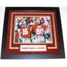 """Joe Montana and Jerry Rice Dual Autographed San Francisco 49ers 8"""" x 10"""" Custom Framed Photograph"""