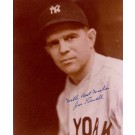 "Joe Sewell Autographed New York Yankees 8"" x 10"" Photograph with ""With Best Wishes"" Inscription Deceased (Unframed)"