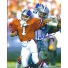 "John Dutton Autographed Dallas Cowboys 8"" x 10"" Photograph Sacking John Elway (Unframed)"