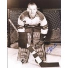 "Johnny Bower Autographed 8"" x 10"" Photograph Hall of Famer (Unframed)"
