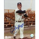 "Johnny Logan Autographed Milwaukee Braves 8"" x 10"" Photograph (Unframed)"
