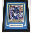 "Ladainian Tomlinson Autographed San Diego Chargers 8"" x 10"" Custom Framed Photograph"