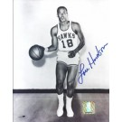 "Lou Hudson Autographed St. Louis Hawks 8"" x 10"" Photograph Georgia Hall of Famer (Unframed)"