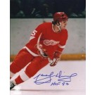 "Marcel Dionne Autographed Detroit Red Wings 8"" x 10"" Photograph Hall of Famer (Unframed)"