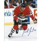 "Michel Goulet Autographed Chicago Blackhawks 8"" x 10"" Photograph Hall of Famer (Unframed)"