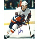 """Mike Bossy Autographed New York Islanders 8"""" x 10"""" Photograph (Unframed) by"""