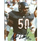 "Mike Singletary ""Blue Jersey"" Autographed Chicago Bears 8"" x 10"" Photograph Hall of Famer (Unframed)"