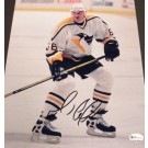 "Mario Lemieux ""White Jersey"" Autographed Pittsburgh Penguins 8"" x 10""... by"