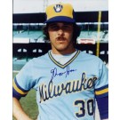 """Moose Haas Autographed Milwaukee Brewers 8"""" x 10"""" Photograph (Unframed)"""