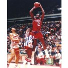 "Moses Malone ""Shooting"" Autographed Philadelphia 76ers 8"" x 10"" Photograph (Unframed)"