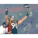 "Neil Smith Autographed Denver Broncos 8"" x 10"" Photograph (Unframed)"