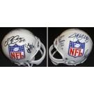 Steve McNair, Elvis Grbac, Drew Bledsoe, Jeff Blake, and Scott Mitchell Autographed NFL Mini Helmet
