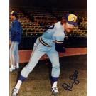 "Pete Ladd ""Blue Jersey"" Autographed Milwaukee Brewers 8"" x 10"" Photograph (Unframed)"