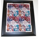 Johnny Unitas, Dan Marino, Joe Montana, and John Elway Autographed Photograph Collage QB's of the Century Custom Framed
