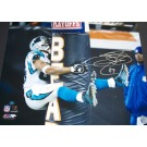 "Steve Smith Autographed ""Hugging the Bears Goalpost"" 16"" x 20"" Photograph (Unframed)"