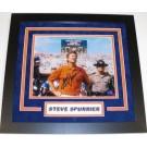 "Steve Spurrier Autographed Florida Gators Coaching 8"" x 10"" Custom Framed Photograph"
